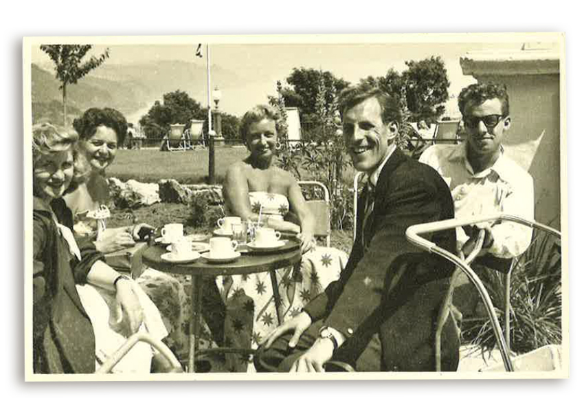 Larry, Rowena and Bruce Forsyth in Babbacombe
