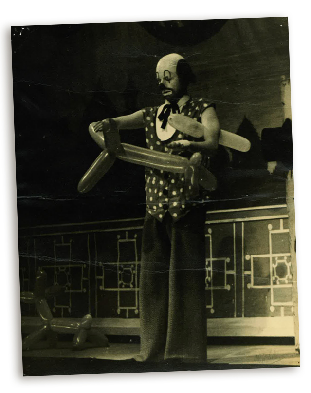 Larry as the Tramp, Panto in Perth 1952