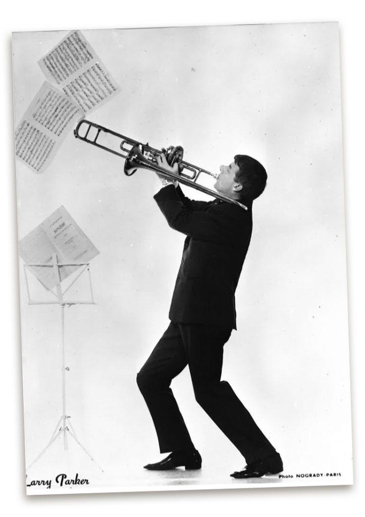 Larry with Trombone, photo