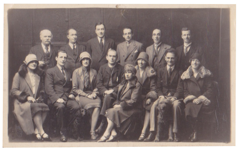 Alfred Denville Co., 1928. In photo are Mary Kinloch (far bottom right) and Henry Parker (top right)