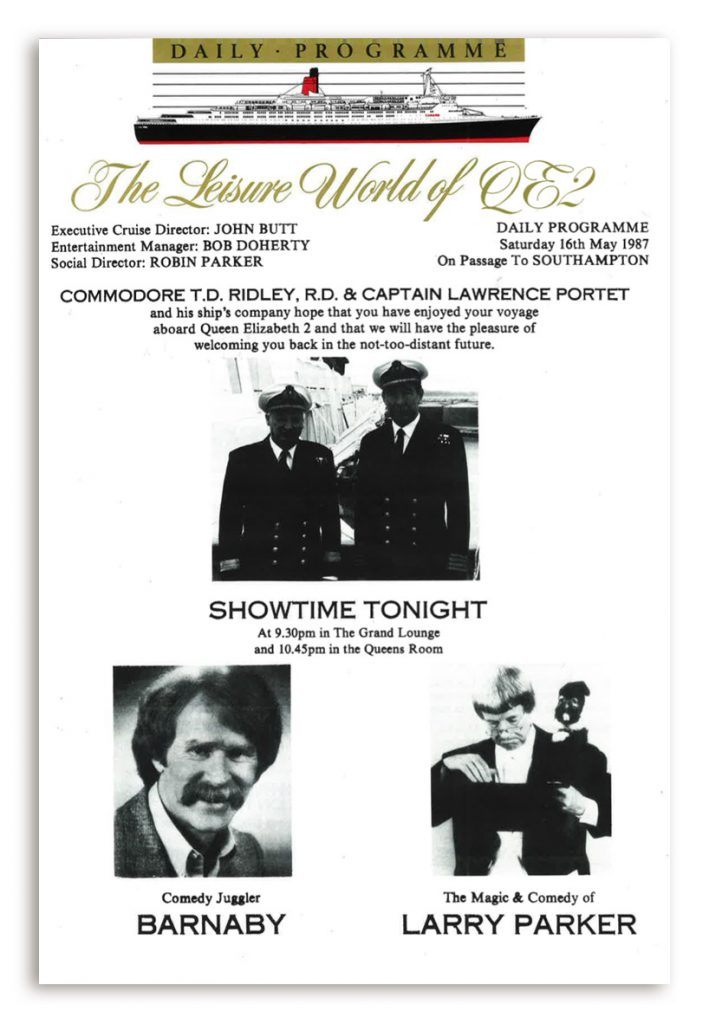 QE2 Daily programme